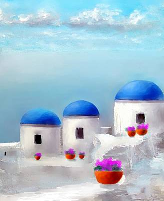 Into The Heavens Santorini Art Print