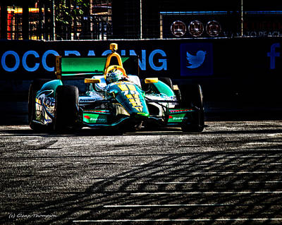 Indy Car Photograph - Into The Pit by Glenn Thompson