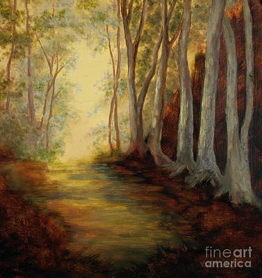 Painting - Into The Woods-glowing by Vic  Mastis