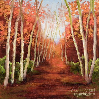 Painting - Into The Woods-series by Vic  Mastis