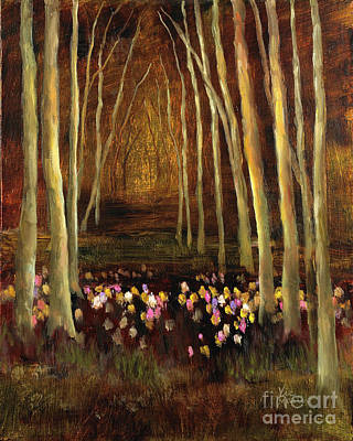 Painting - Into The Woods-tulips by Vic  Mastis