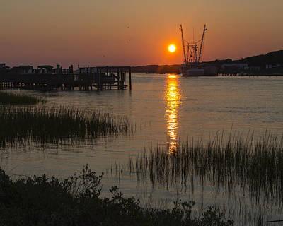 Photograph - Intracoastal Sunset by Alan Raasch