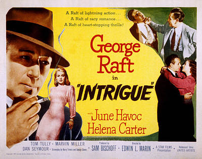 Posth Photograph - Intrigue, George Raft, June Havoc by Everett