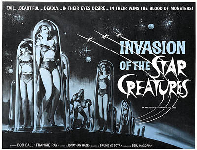 Horror Movies Photograph - Invasion Of The Star Creatures by Everett