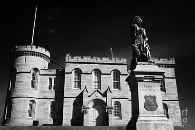 Flora Macdonald Photograph - Inverness Castle And Flora Macdonald Statue Highland Scotland by Joe Fox