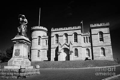 Flora Macdonald Photograph - Inverness Castle And Flora Macdonald Statue Highland Scotland Uk by Joe Fox