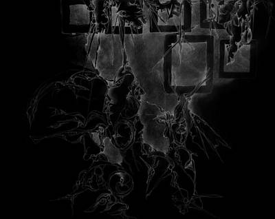 Fantasy Drawing - Inverted Frames by Bodhi