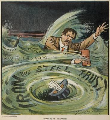 Speculation Photograph - Investors Beware Cartoon Shows by Everett