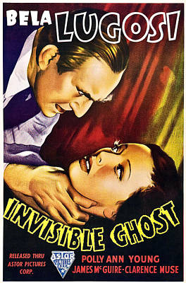 Bela Photograph - Invisible Ghost, From Left Bela Lugosi by Everett
