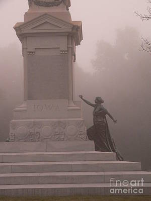 Photograph - Iowa Monument At Shiloh - 2 by David Bearden