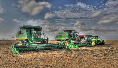 Iowa Soybean Pickers Art Print
