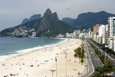 Ipanema Beach Photograph - Ipanema Beach From Hotel Fasano Rooftop by Holger Leue