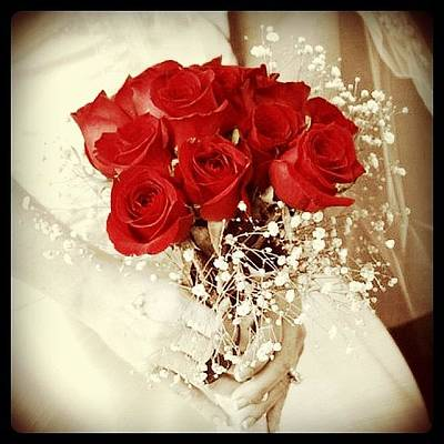 Bouquet Photograph - #iphonesia #iphoneography #wedding by Sherri Galvan