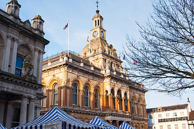 Ipswich Town Hall Art Print by Andrew  Michael