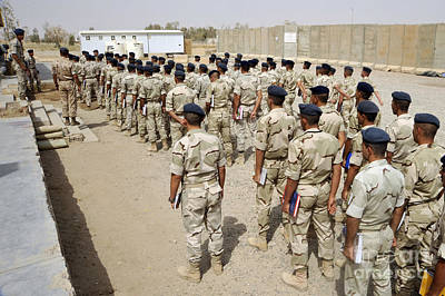 Iraqi Air Force College Cadets March Print by Stocktrek Images