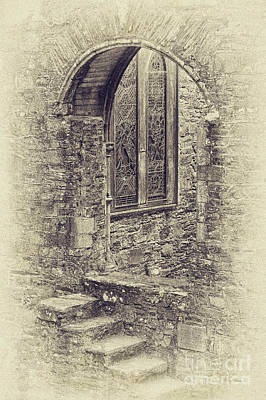 Photograph - Ireland Church Window by Cheryl Davis