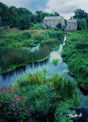 Digital Art - Ireland Series - Mill And Stream by Jim Pavelle