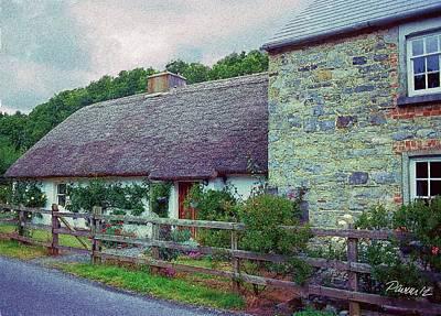 Digital Art - Ireland Series - Thatched House by Jim Pavelle