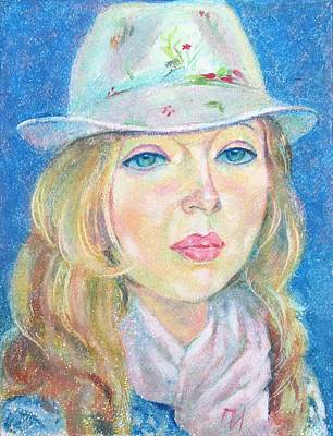 Woman Painting - Irina Gutman by Leonid Petrushin