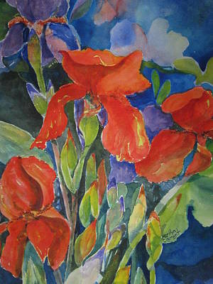 Iris Ablaze Art Print