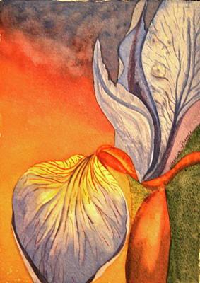 Art Print featuring the painting Iris Moody by Teresa Beyer