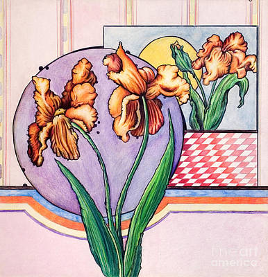 Mixed Media - Iris Reflection by Danielle Scott