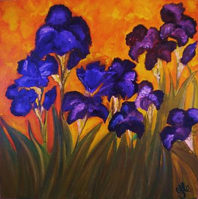 Irises In Motion Art Print