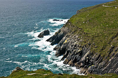 Photograph - Irish Coastline by Edward Peterson