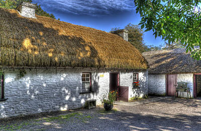 River Corrib Photograph - Irish Cottage In Bunratty by Andreas Hartmann