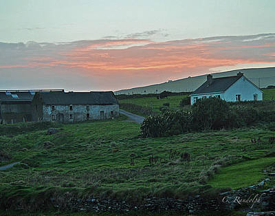 Photograph - Irish Country Sunset by Cheri Randolph