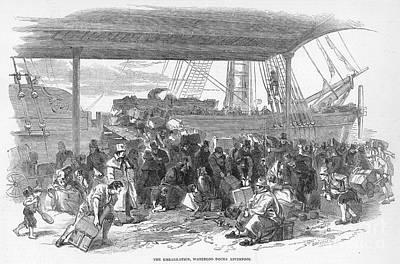 Irish Emigration Print by Granger