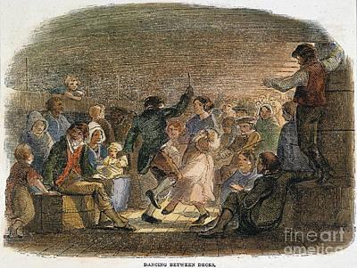 Photograph - Irish Immigrants On Ship by Granger