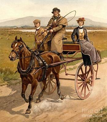 Irish Jaunting Car Print by Padre Art