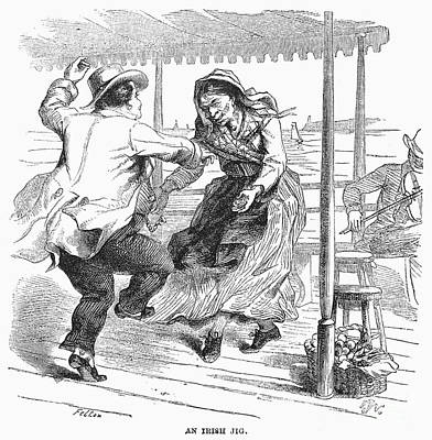 Photograph - Irish Jig, 1858 by Granger