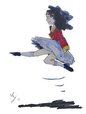 Drawing - Irish Jig by Mike Jory