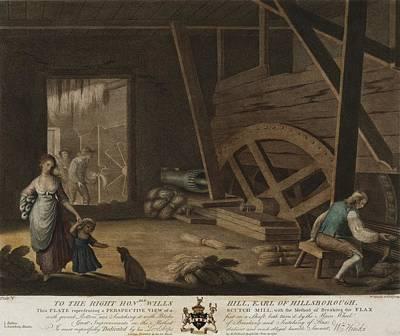 Braking Photograph - Irish Linen Manufacture, 1782. A Scutch by Everett