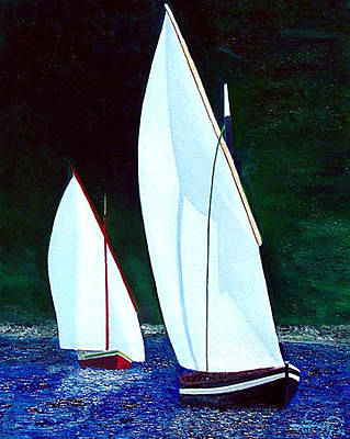 Painting - Irish Sail Boats by JoeRay Kelley
