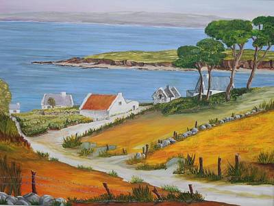 Painting - Irish Seaside Village by Siobhan Lawson