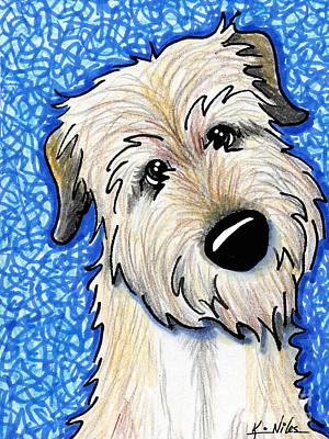 Irish Wolfhound Art Print by Kim Niles