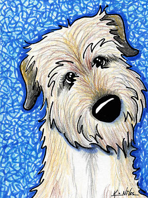 Kim Drawing - Irish Wolfhound by Kim Niles