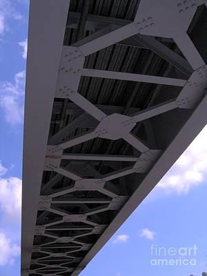 Cross-bar Photograph - Iron Bridge by Yali Shi