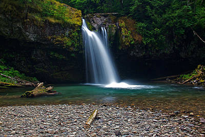Iron Creek Falls 2 Art Print by Marcus Angeline
