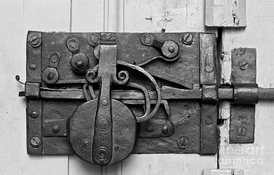 Iron Door Lock Art Print by Heiko Koehrer-Wagner