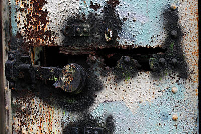 Photograph - Iron Door Rusted Through by Marie Jamieson