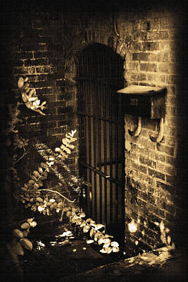 Photograph - Iron Door Sepia by Kelly Hazel