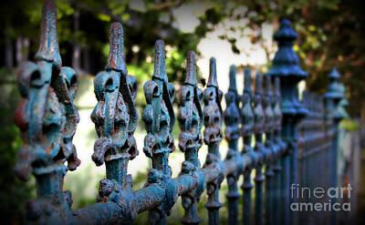 Fleur De Lis Photograph - Iron Fence by Perry Webster