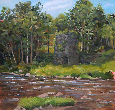 Painting - Iron Furnace Of Franconia New Hampshire by Nancy Griswold