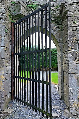 Photograph - Iron Gate by Charlie and Norma Brock