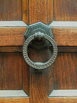 Photograph - Iron Knocker On Dusty Door by Michael Flood