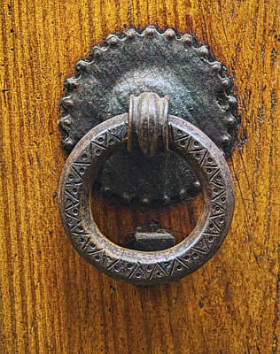Photograph - Iron Knocker On Old Door by Michael Flood